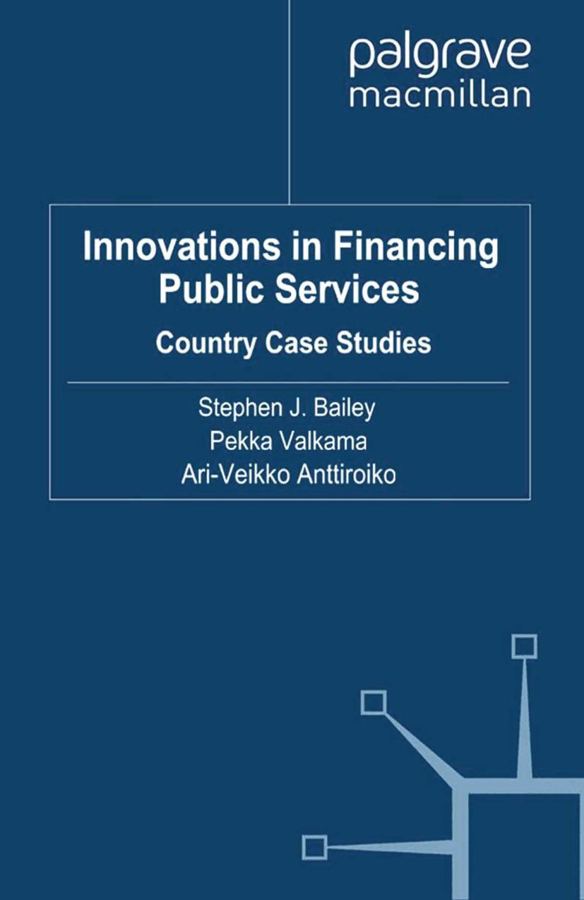 Anttiroiko, Ari-Veikko - Innovations in Financing Public Services, ebook