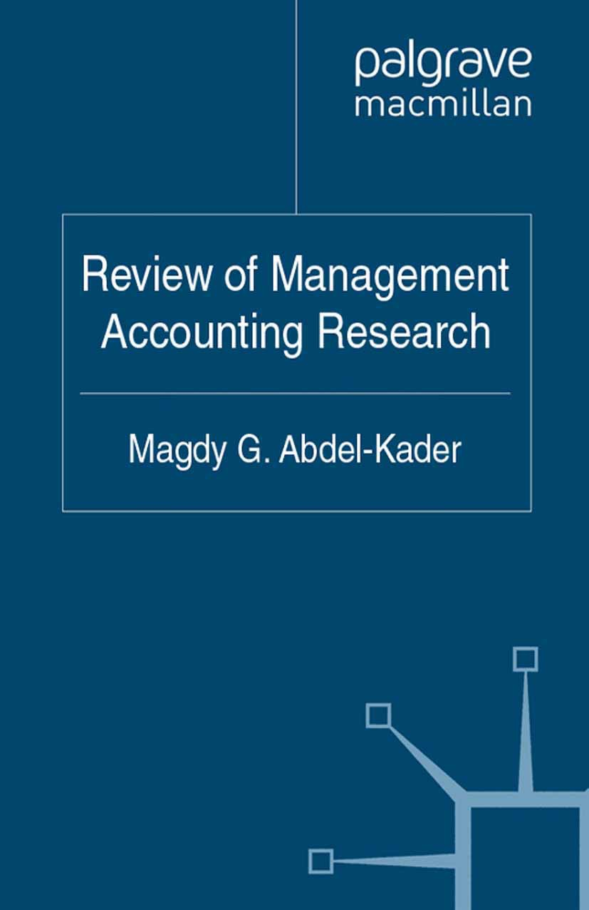 Abdel-Kader, Magdy G. - Review of Management Accounting Research, ebook
