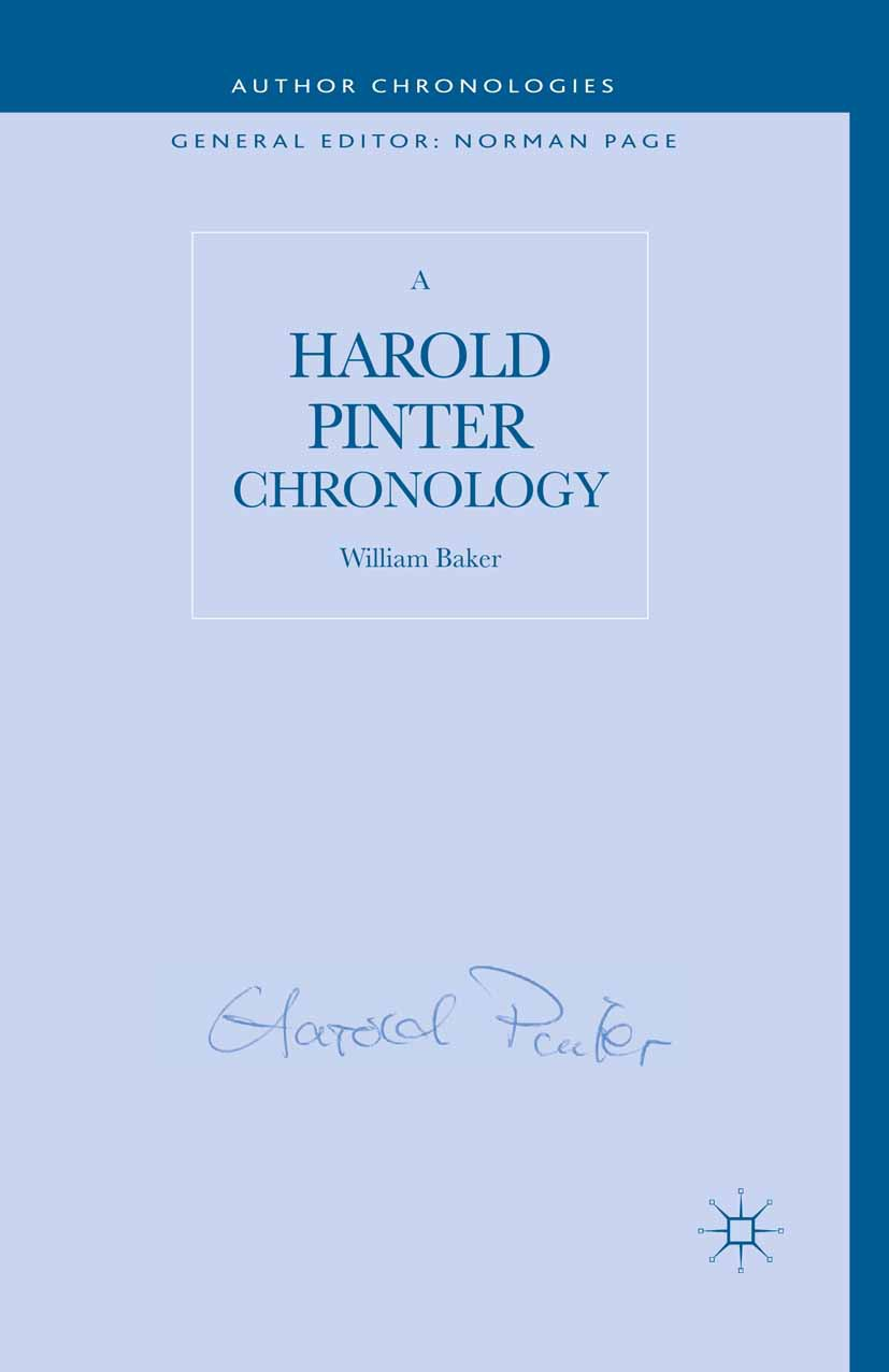 Baker, William - A Harold Pinter Chronology, e-bok