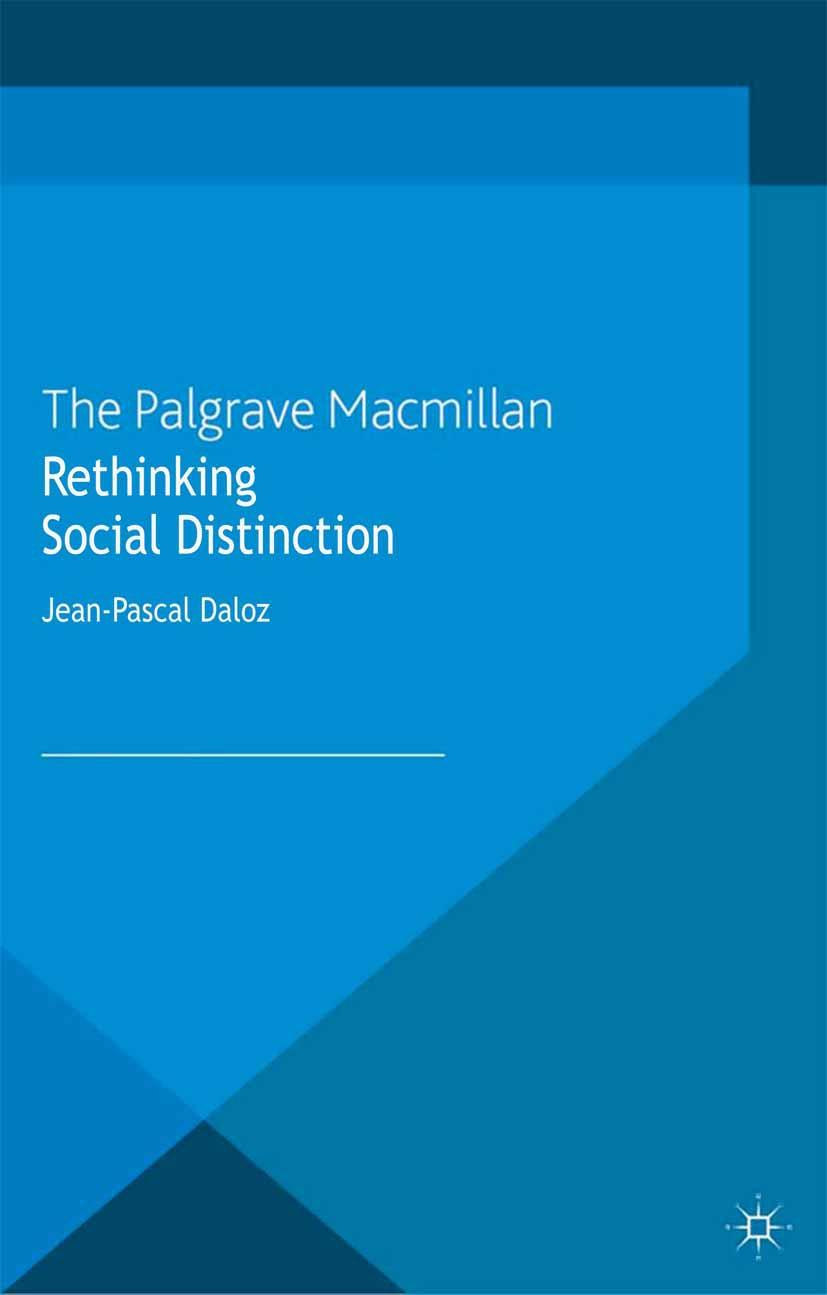 Daloz, Jean-Pascal - Rethinking Social Distinction, ebook
