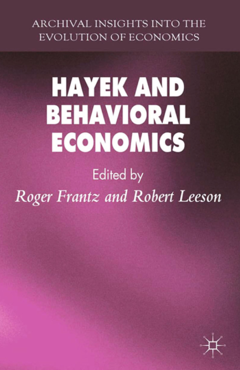 Frantz, Roger - Hayek and Behavioral Economics, ebook