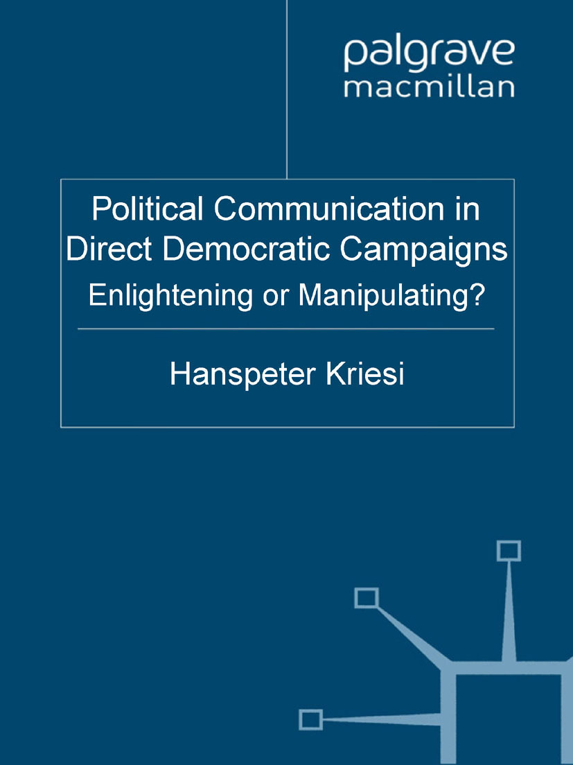 Kriesi, Hanspeter - Political Communication in Direct Democratic Campaigns, ebook