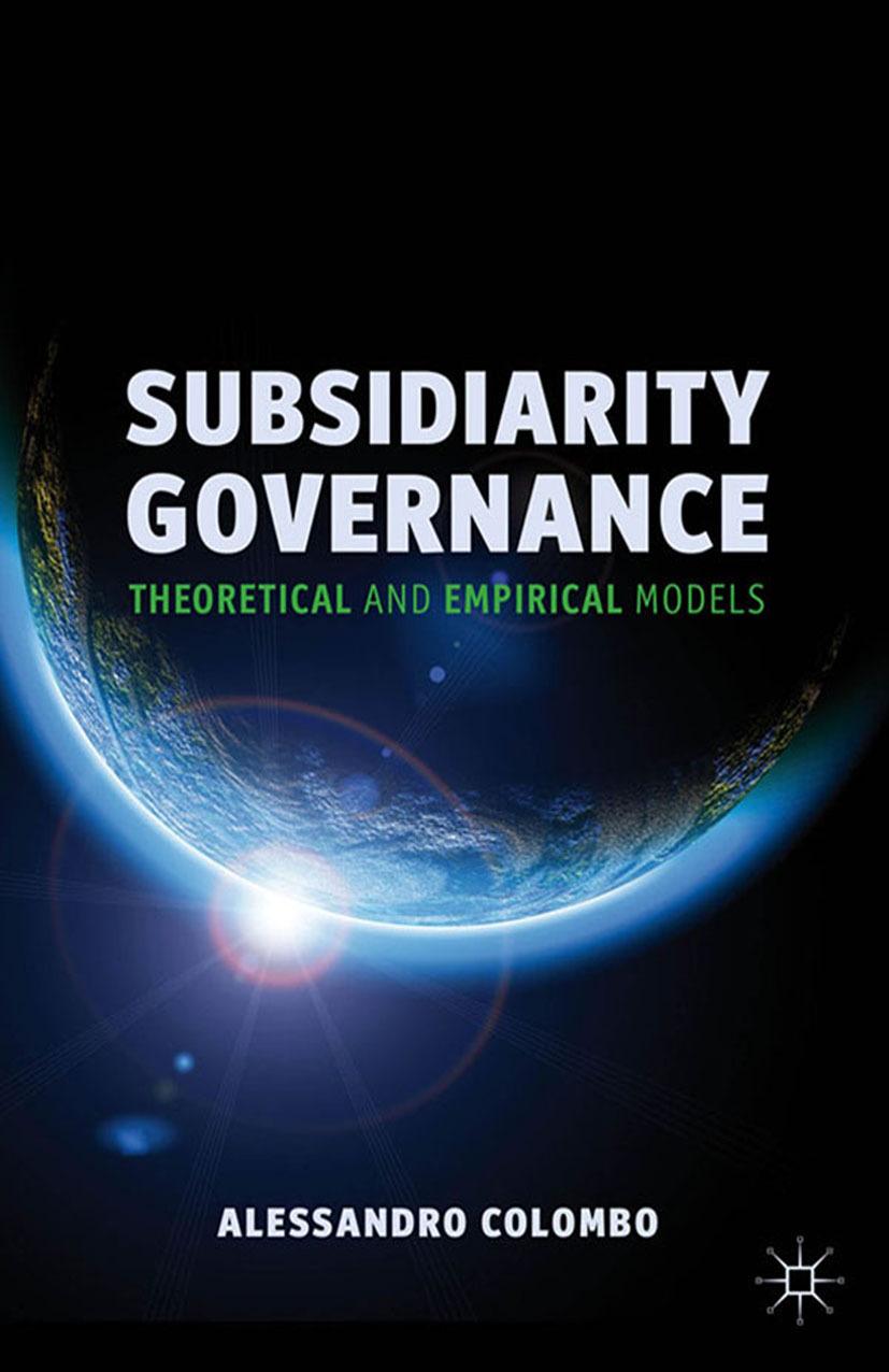 Colombo, Alessandro - Subsidiarity Governance, ebook