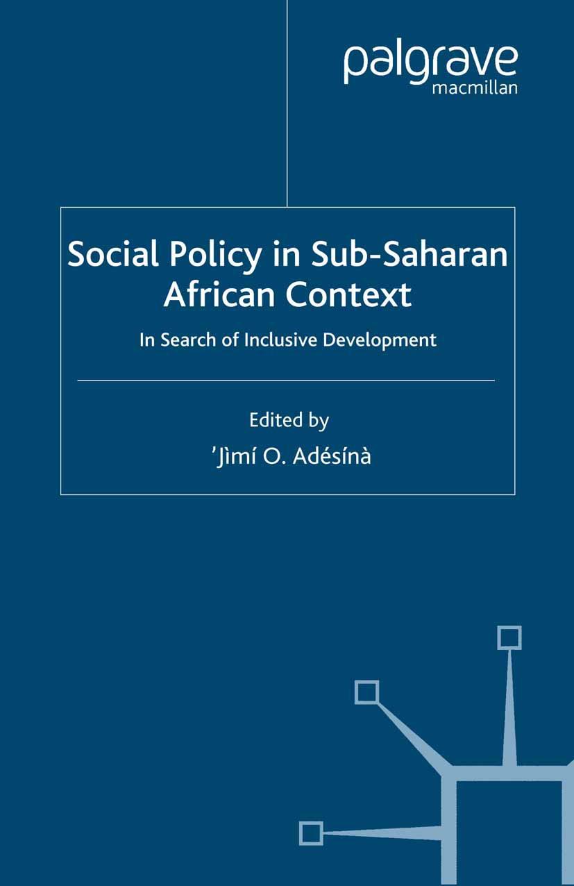 Adésínà, 'Jìmí O. - Social Policy in Sub-Saharan African Context, ebook