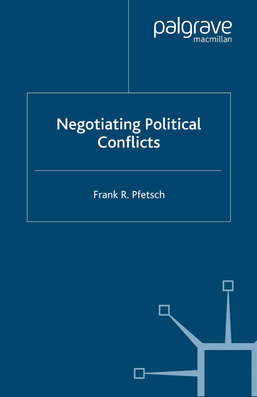 Pfetsch, Frank R. - Negotiating Political Conflicts, ebook
