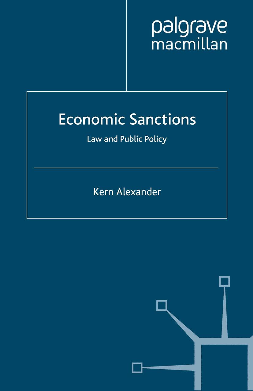 Alexander, Kern - Economic Sanctions, ebook