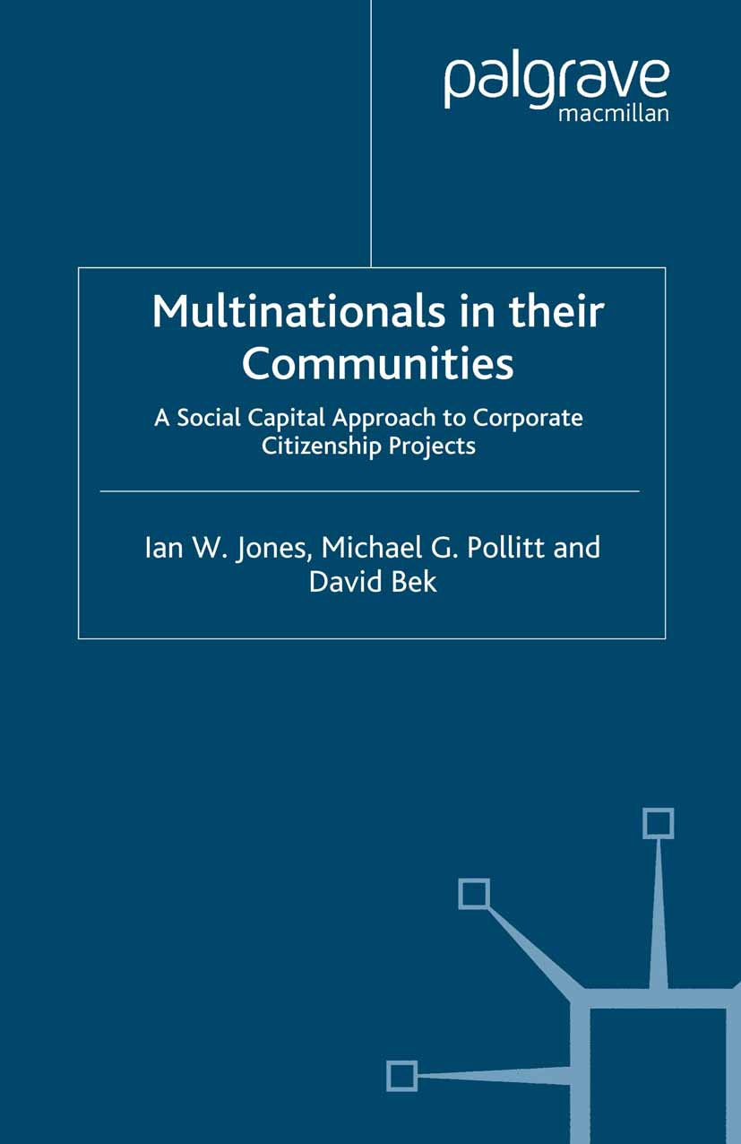 Bek, David - Multinationals in their Communities, ebook