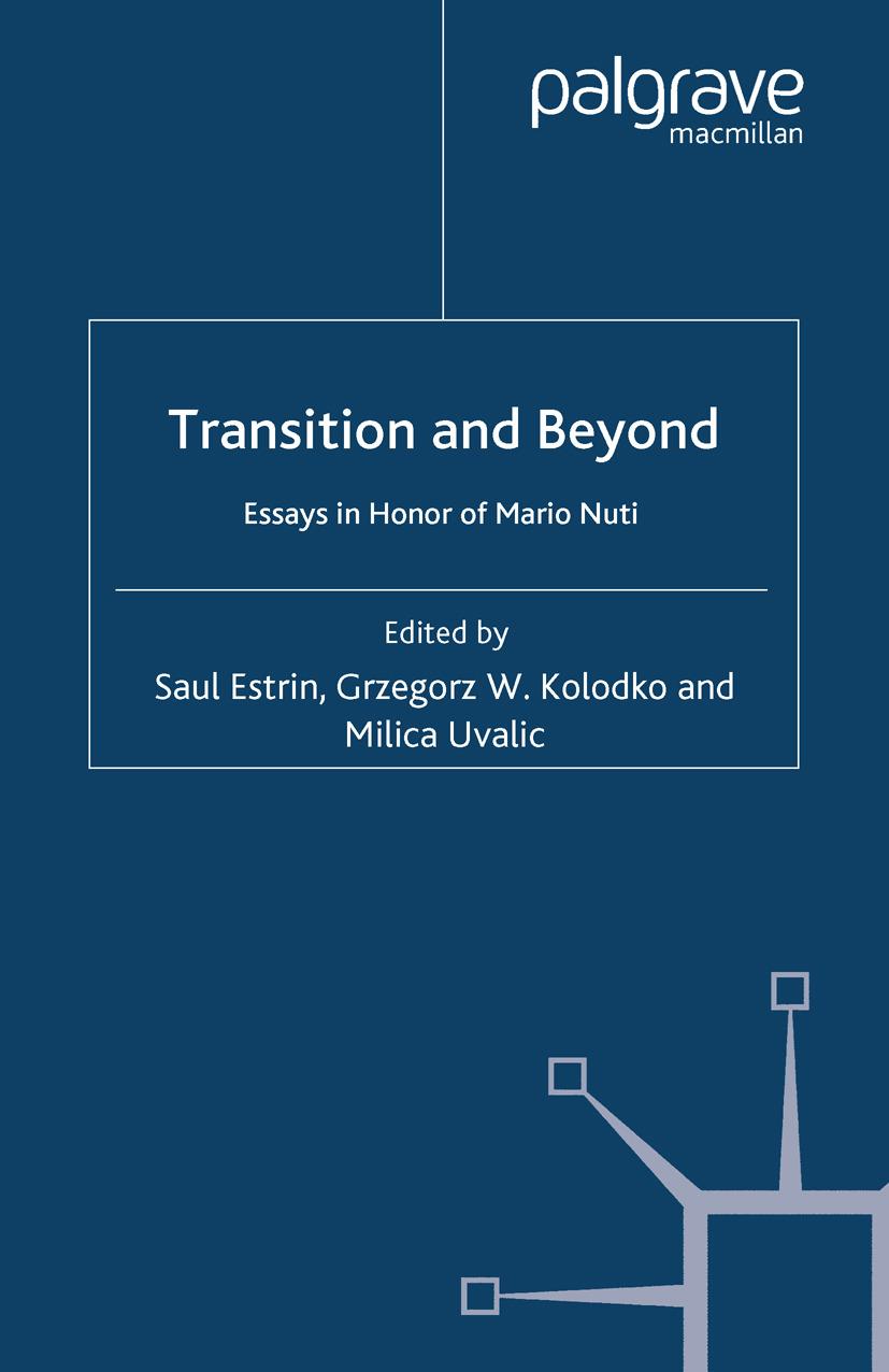 Estrin, Saul - Transition and Beyond, ebook