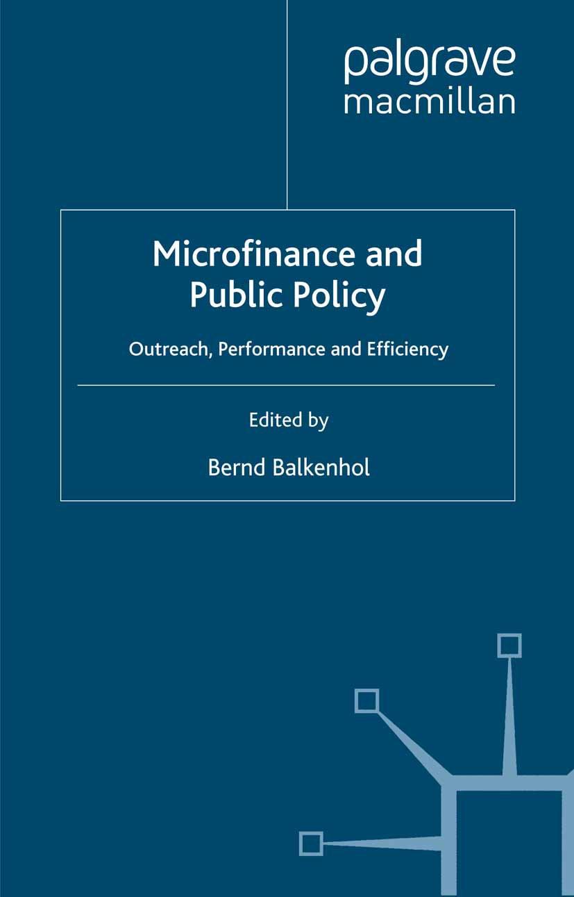 Balkenhol, Bernd - Microfinance and Public Policy, ebook