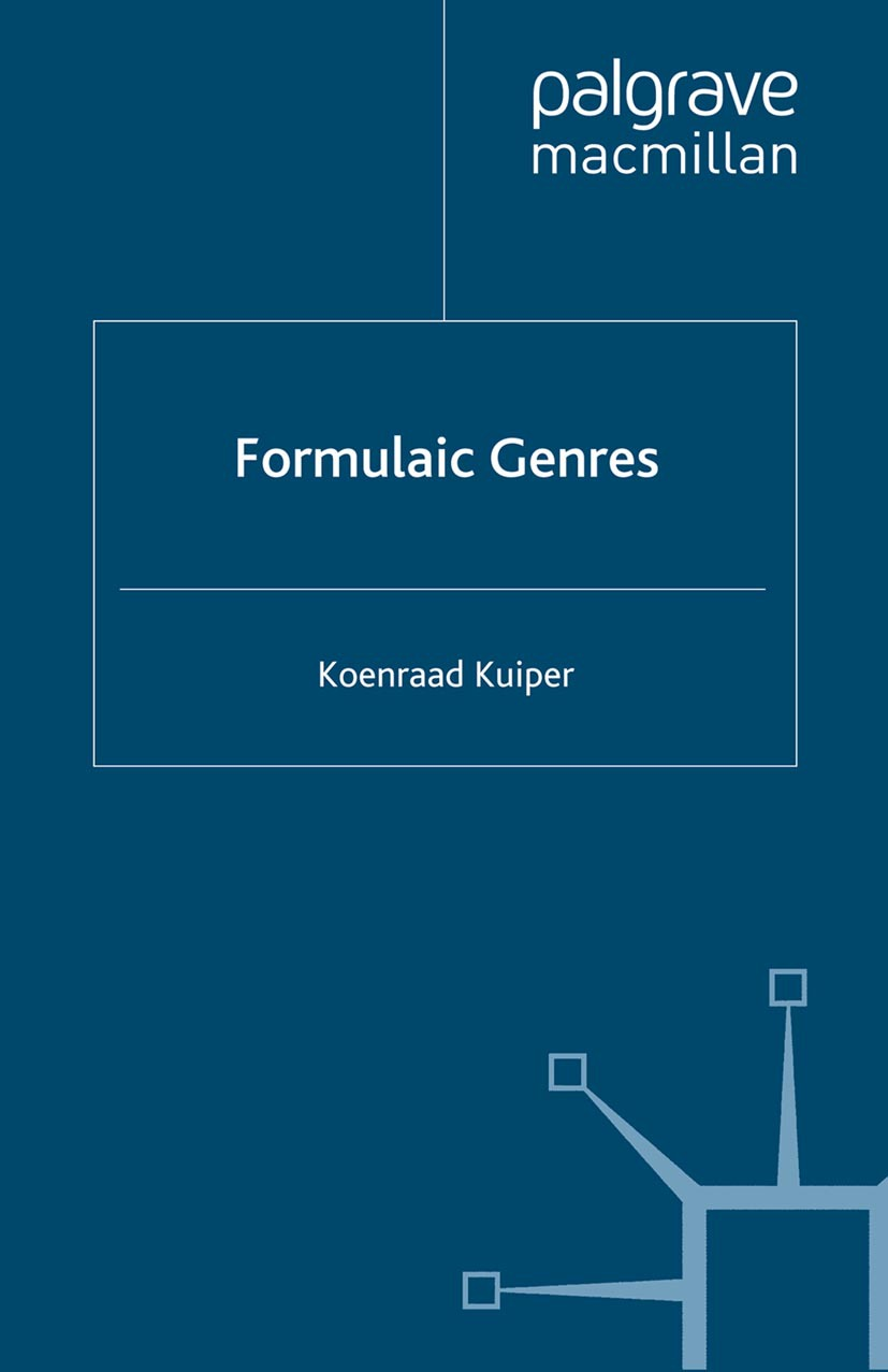 Kuiper, Koenraad - Formulaic Genres, ebook