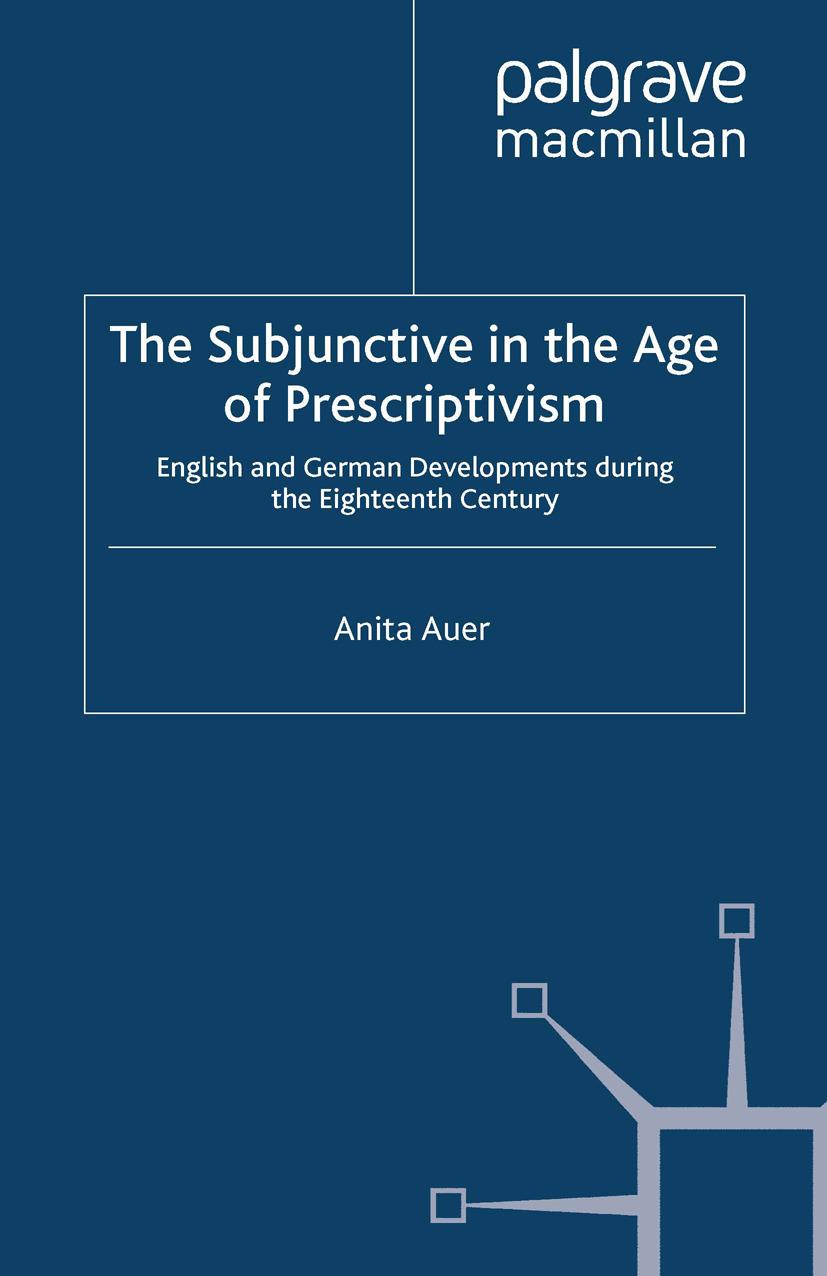 Auer, Anita - The Subjunctive in the Age of Prescriptivism, ebook