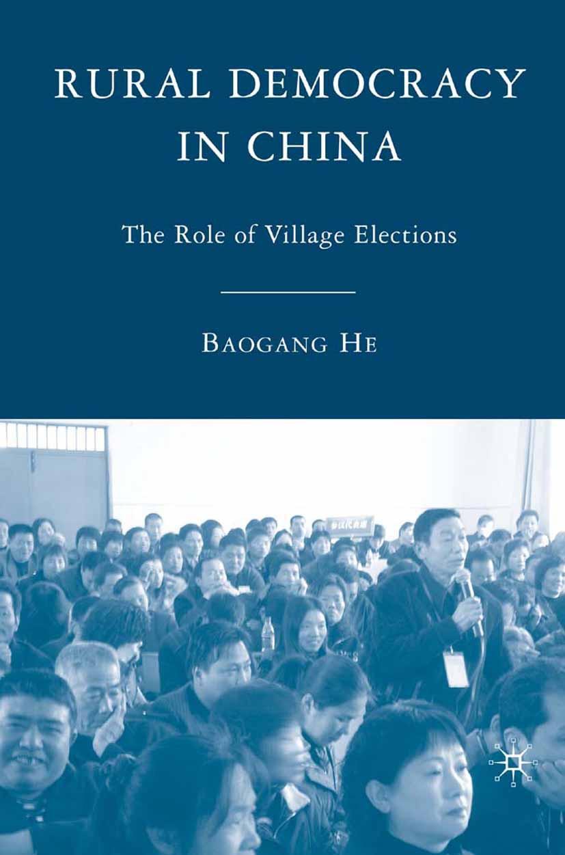 He, Baogang - Rural Democracy in China, ebook