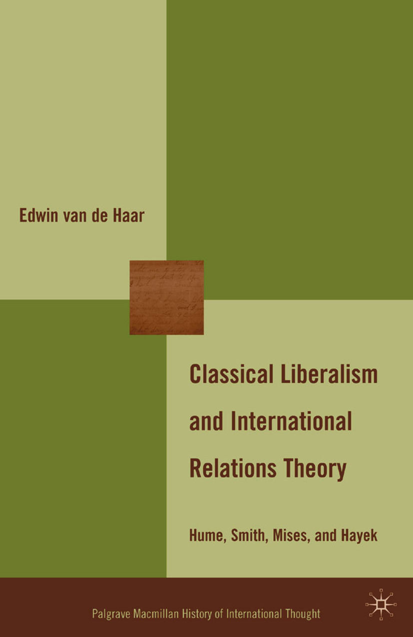Haar, Edwin - Classical Liberalism and International Relations Theory, ebook