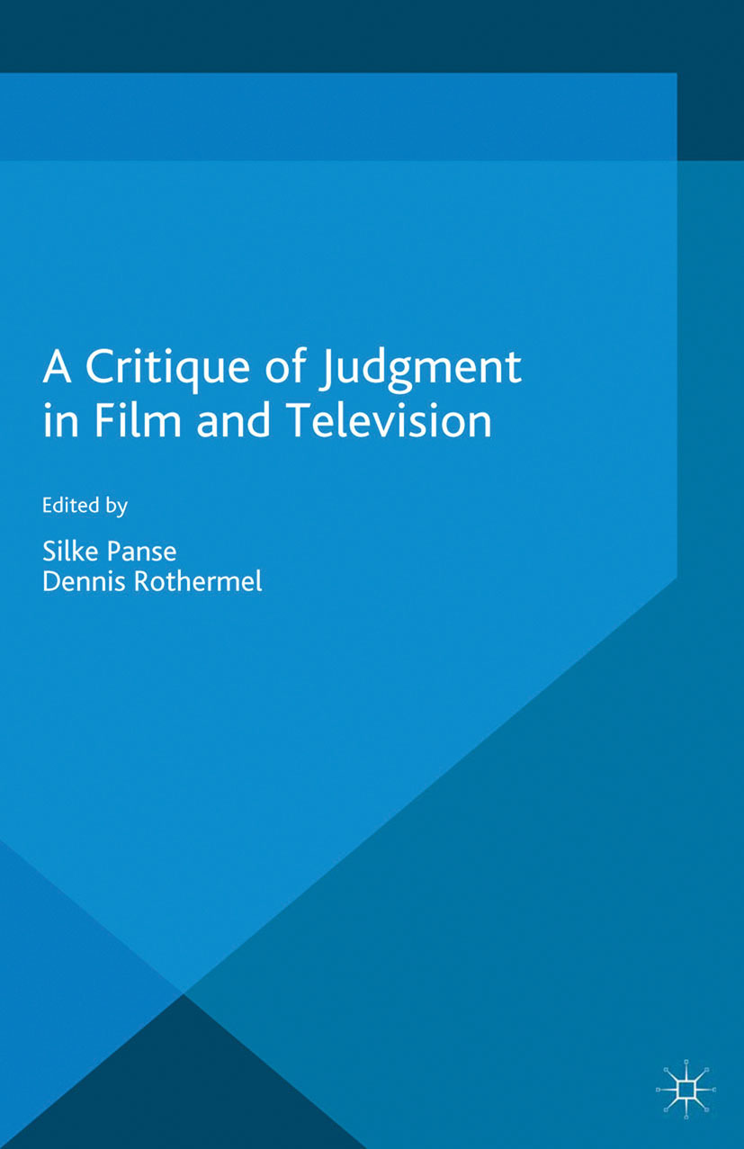 Panse, Silke - A Critique of Judgment in Film and Television, ebook