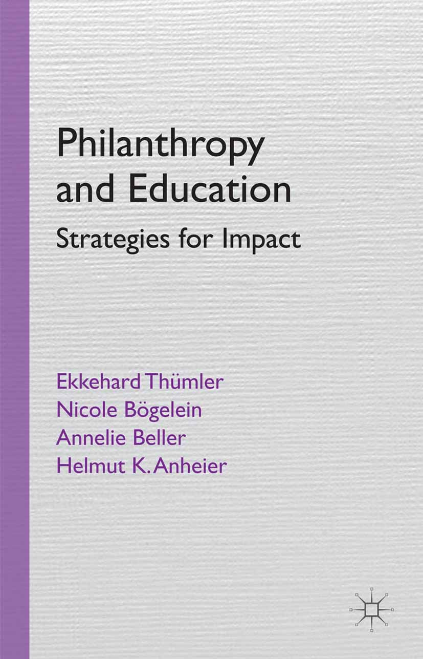 Anheier, Helmut K. - Philanthropy and Education, ebook