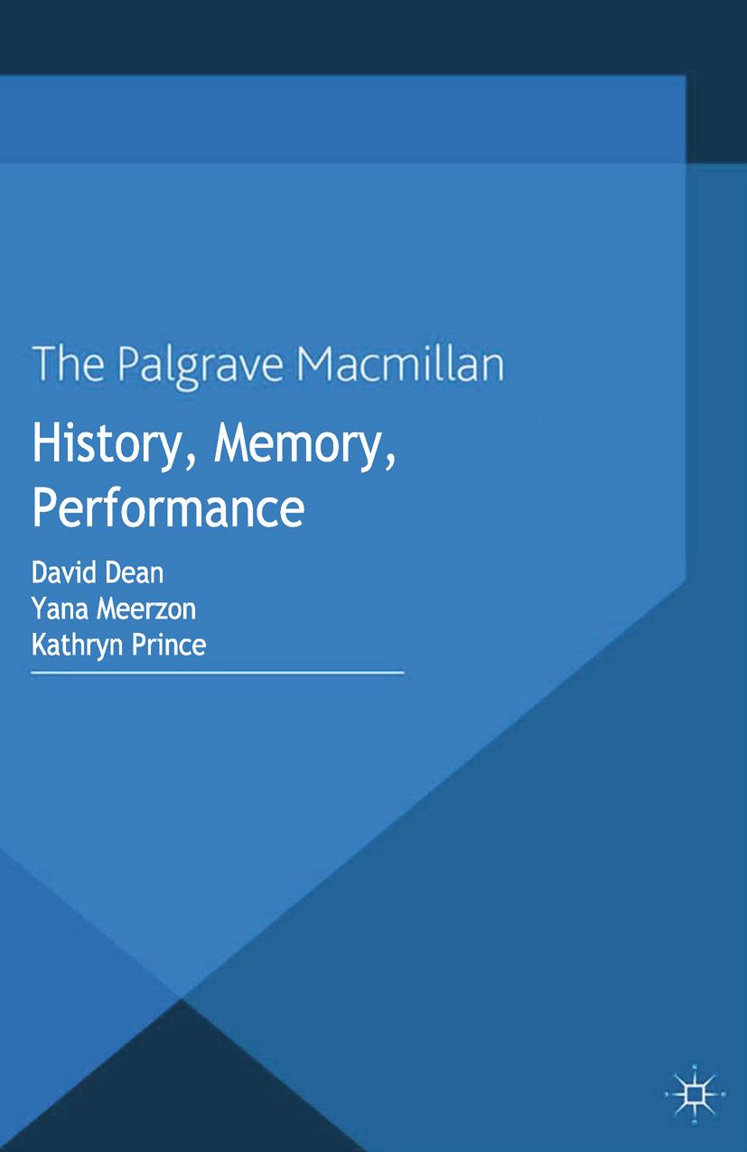 Dean, David - History, Memory, Performance, e-bok