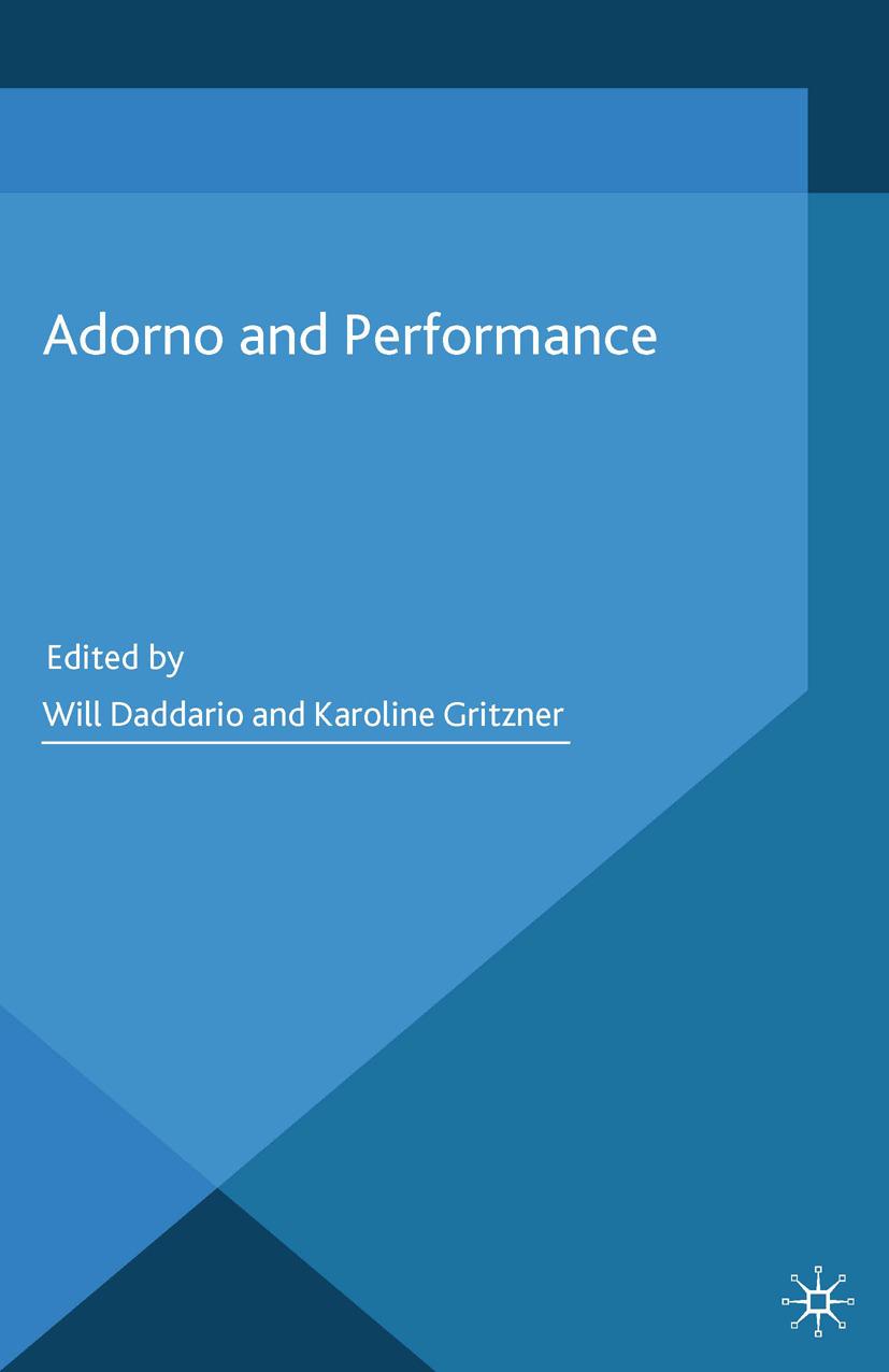 Daddario, Will - Adorno and Performance, ebook