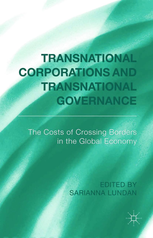 Lundan, Sarianna - Transnational Corporations and Transnational Governance, ebook