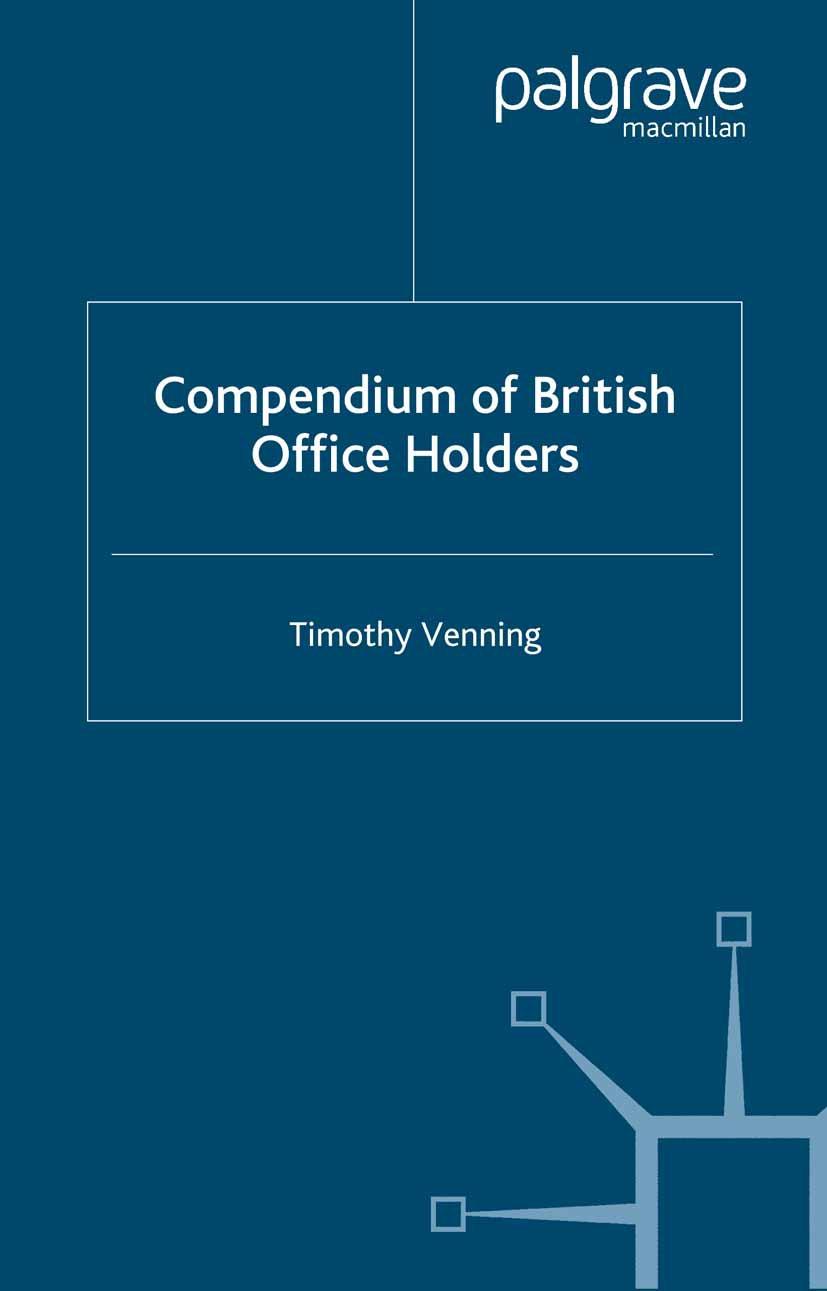 Venning, Timothy - Compendium of British Office Holders, ebook