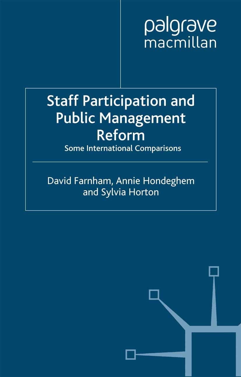 Farnham, David - Staff Participation and Public Management Reform, ebook
