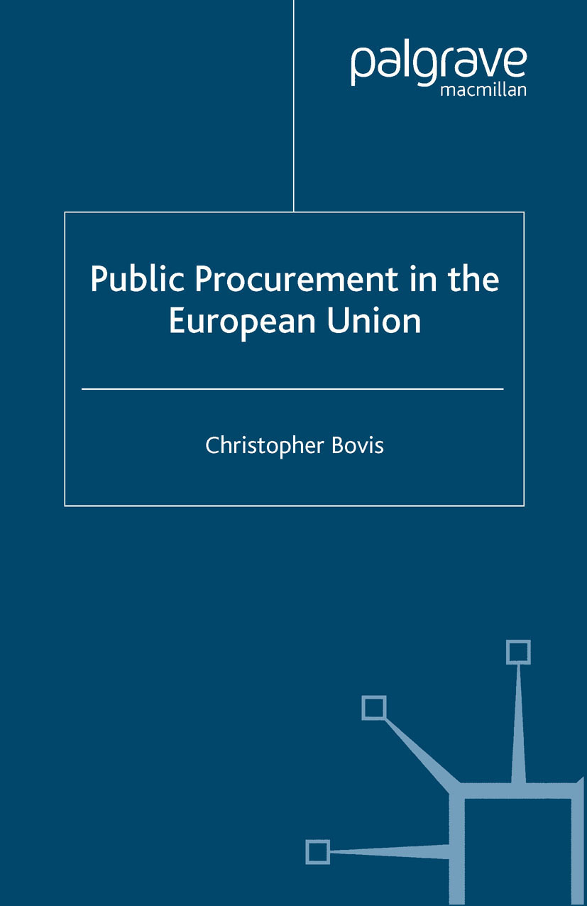 Bovis, Christopher - Public Procurement in the European Union, ebook