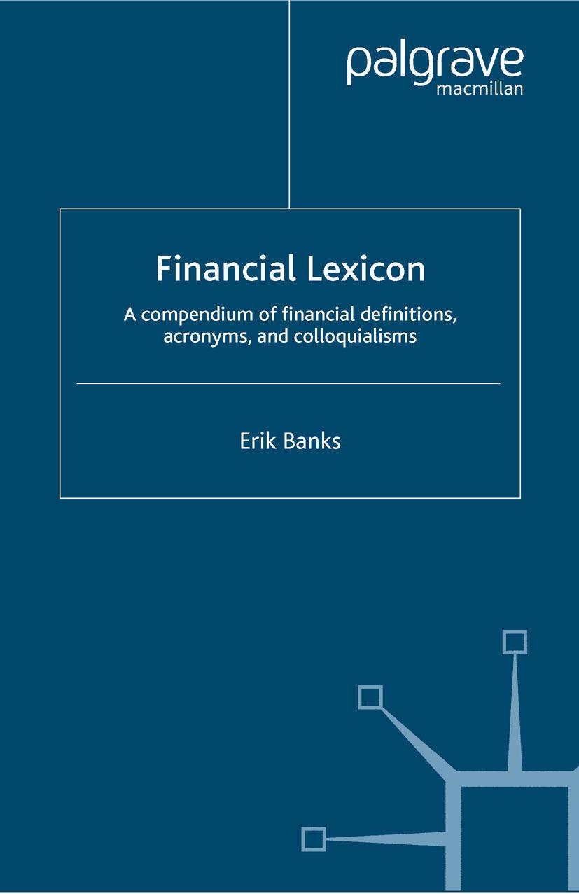 Banks, Erik - Financial Lexicon, ebook