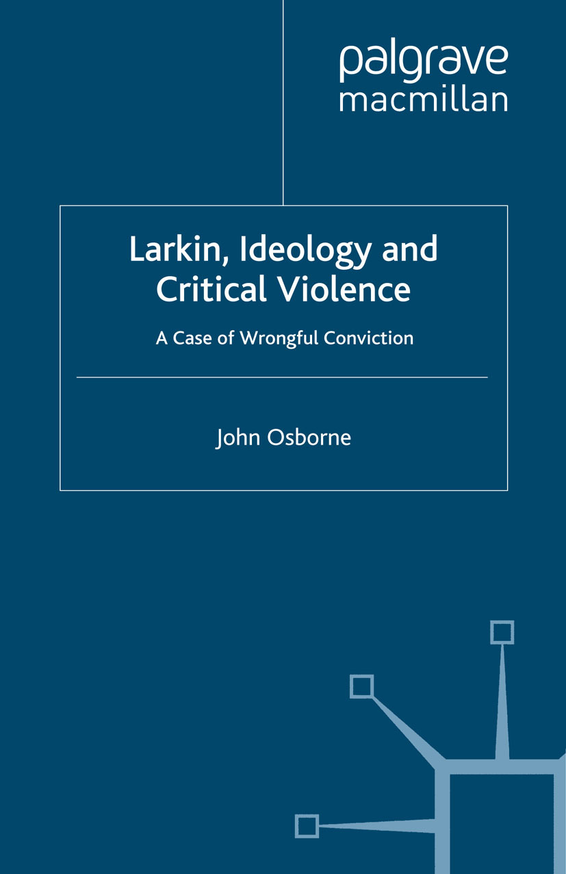 Osborne, John - Larkin, Ideology and Critical Violence, ebook