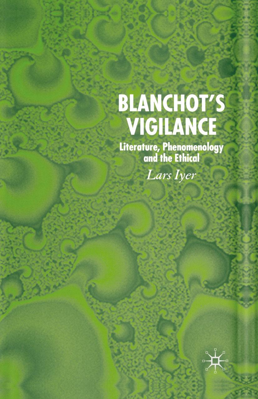 Iyer, Lars - Blanchot's Vigilance, e-kirja