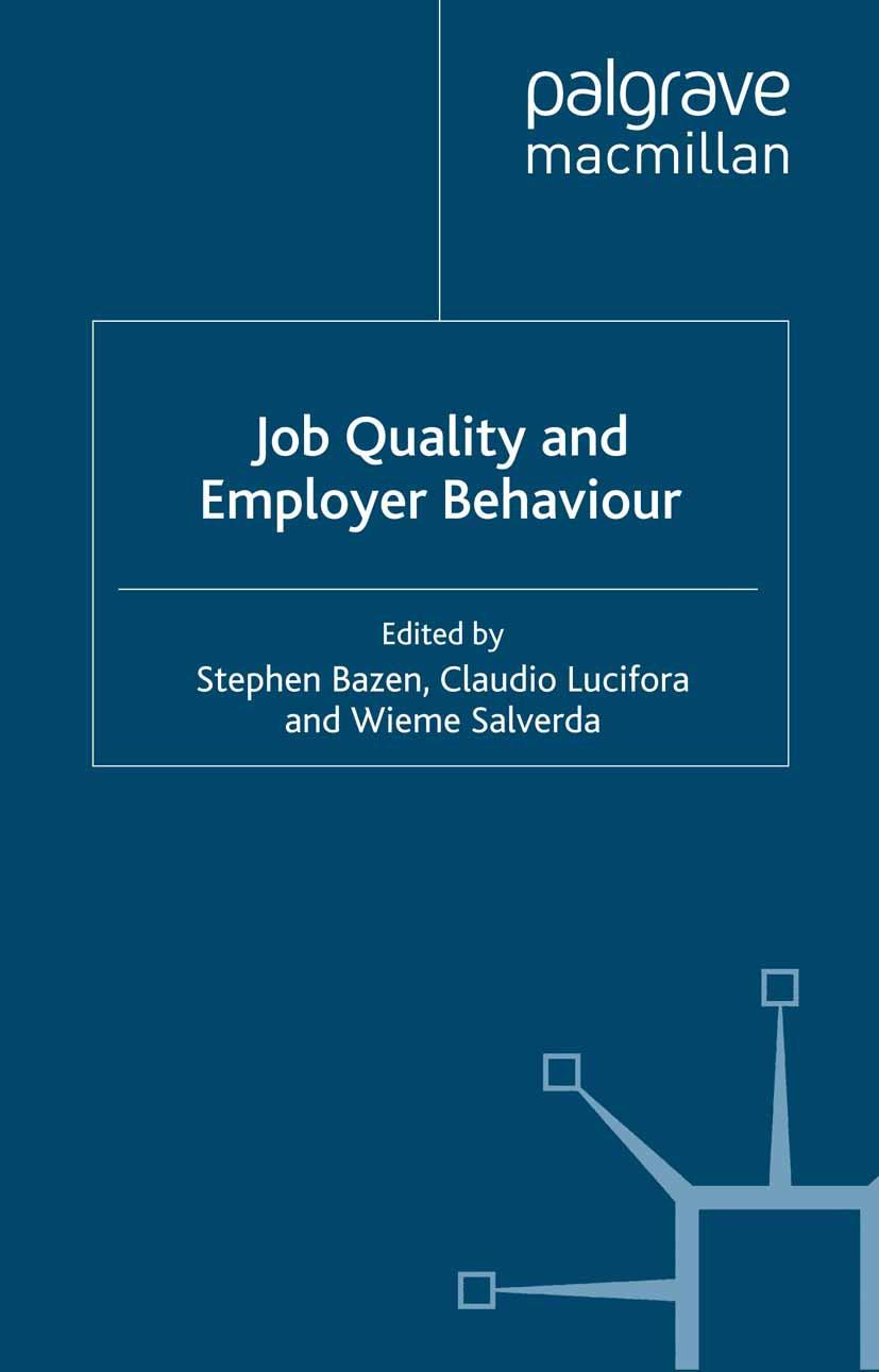Bazen, Stephen - Job Quality and Employer Behaviour, ebook