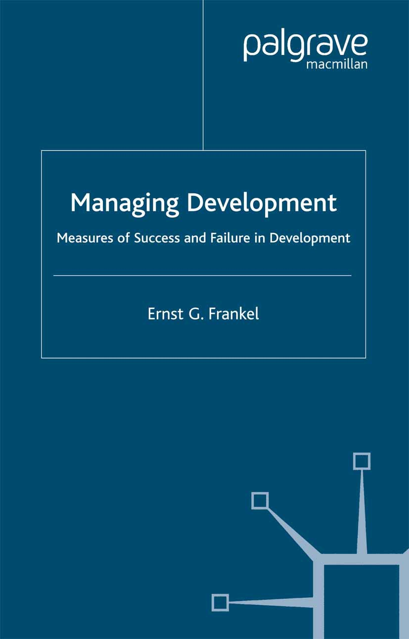 Frankel, Ernst G. - Managing Development, ebook