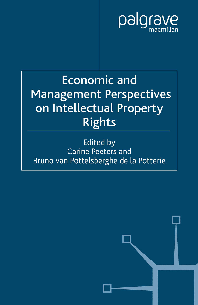 Peeters, Carine - Economic and Management Perspectives on Intellectual Property Rights, ebook