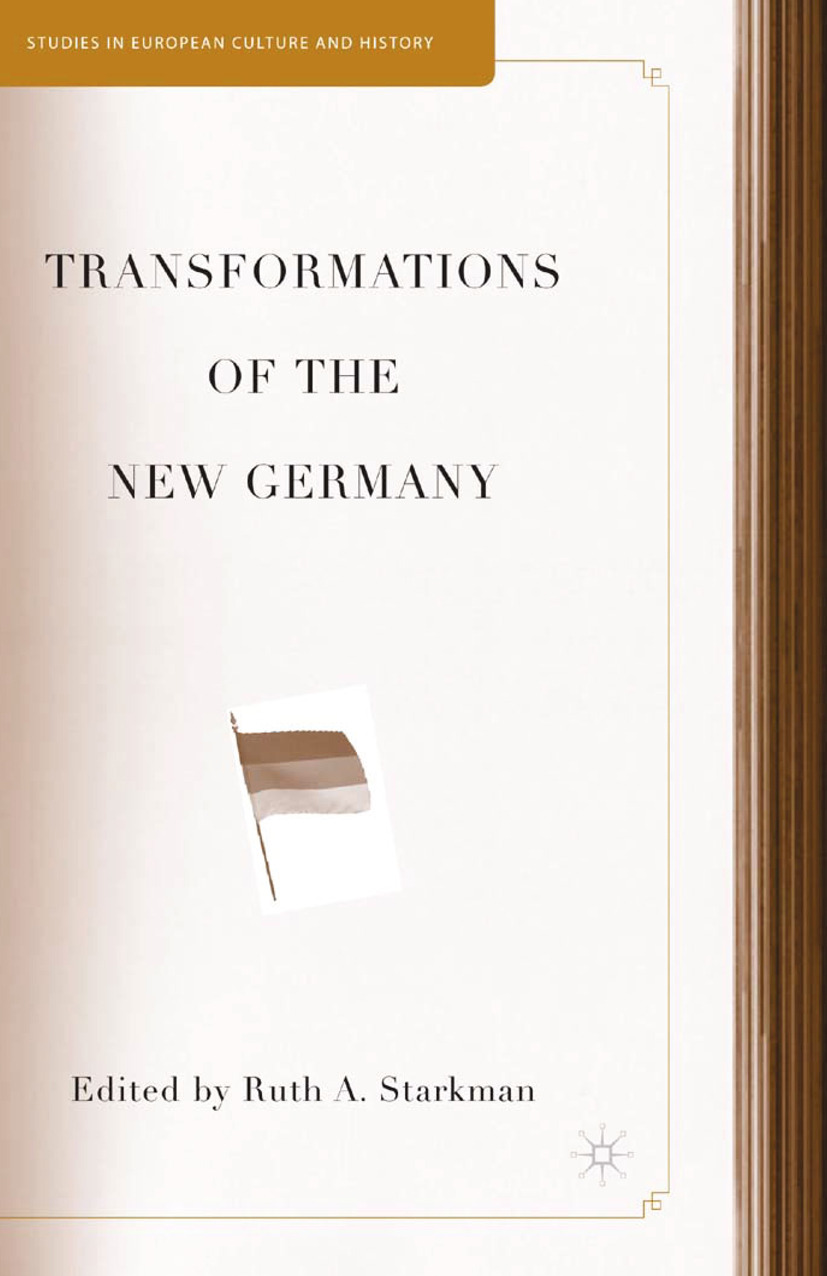 Starkman, Ruth A. - Transformations of the New Germany, ebook