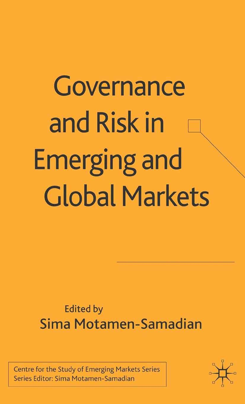 Motamen-Samadian, Sima - Governance and Risk in Emerging and Global Markets, ebook