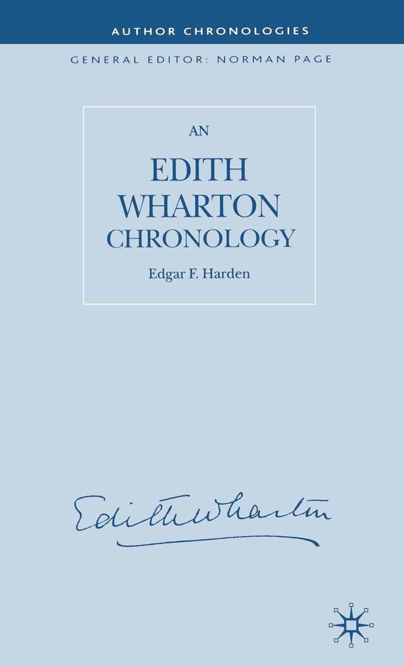 Harden, Edgar F. - An Edith Wharton Chronology, ebook