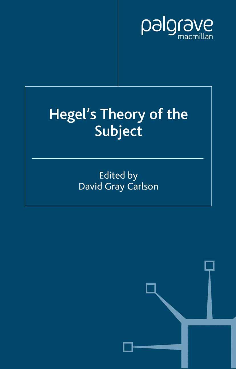 Carlson, David Gray - Hegel's Theory of the Subject, ebook
