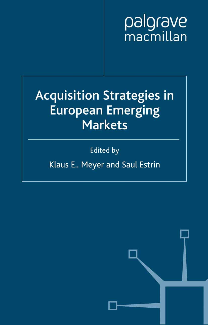 Estrin, Saul - Acquisition Strategies in European Emerging Markets, ebook