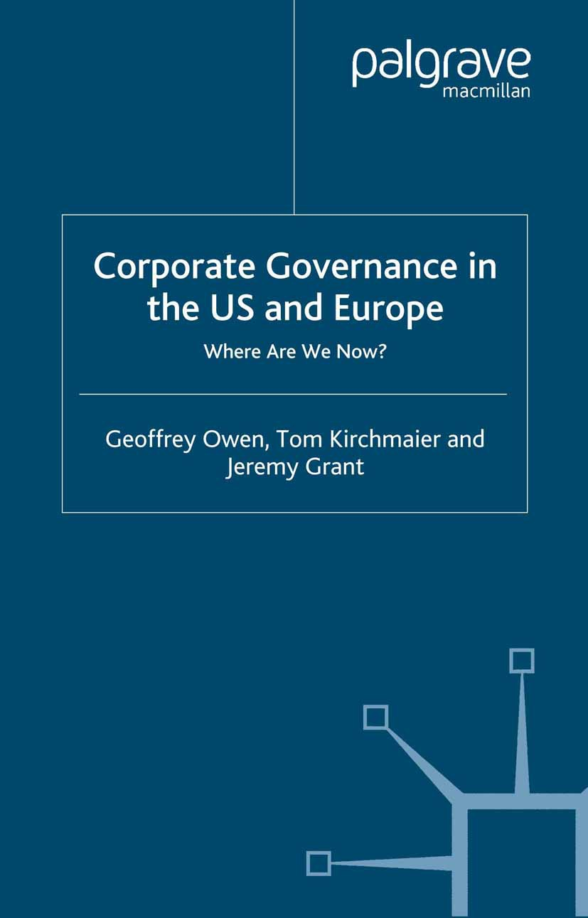 Grant, Jeremy - Corporate Governance in the US and Europe, ebook