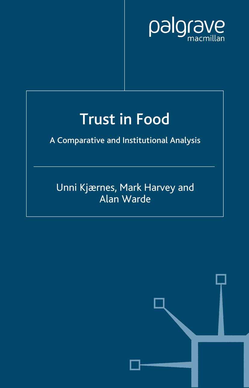Harvey, Mark - Trust in Food, ebook