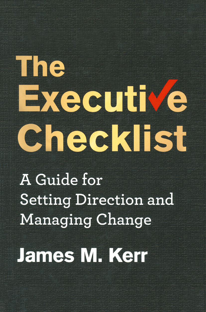 Kerr, James M. - The Executive Checklist, ebook