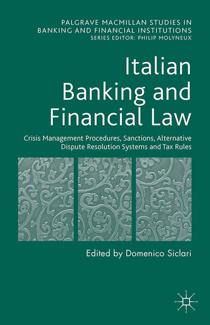 Siclari, Domenico - Italian Banking and Financial Law, ebook