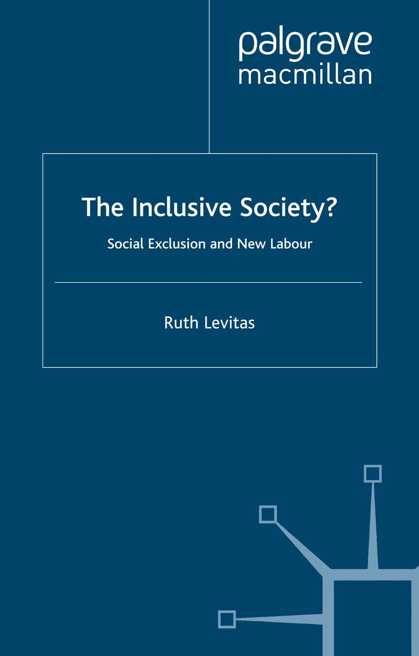 Levitas, Ruth - The Inclusive Society?, ebook