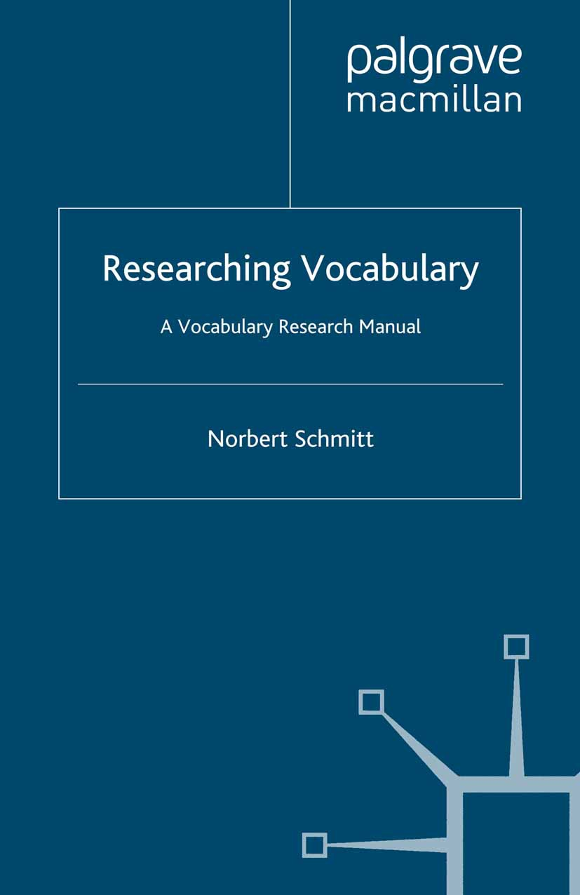 Schmitt, Norbert - Researching Vocabulary, ebook
