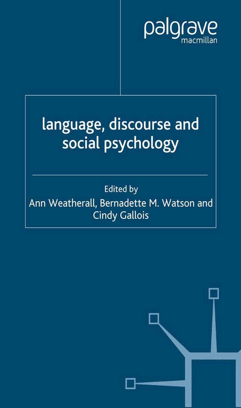 Ann, Weatherall - Language, Discourse and Social Psychology, ebook