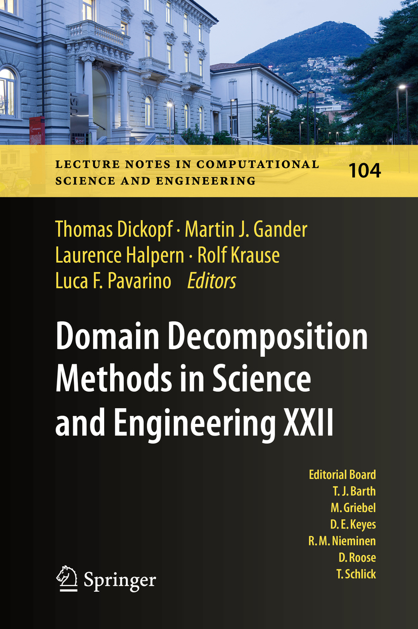 Dickopf, Thomas - Domain Decomposition Methods in Science and Engineering XXII, ebook