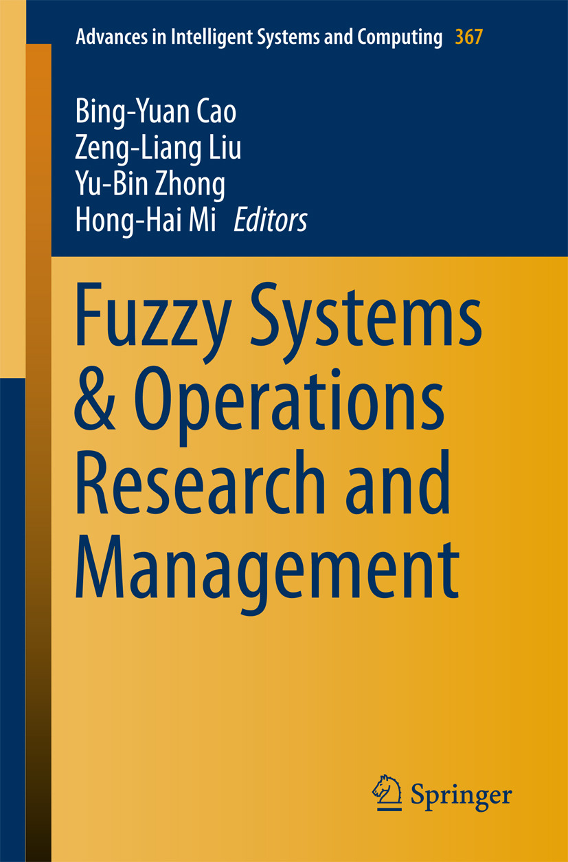 Cao, Bing-Yuan - Fuzzy Systems & Operations Research and Management, e-kirja
