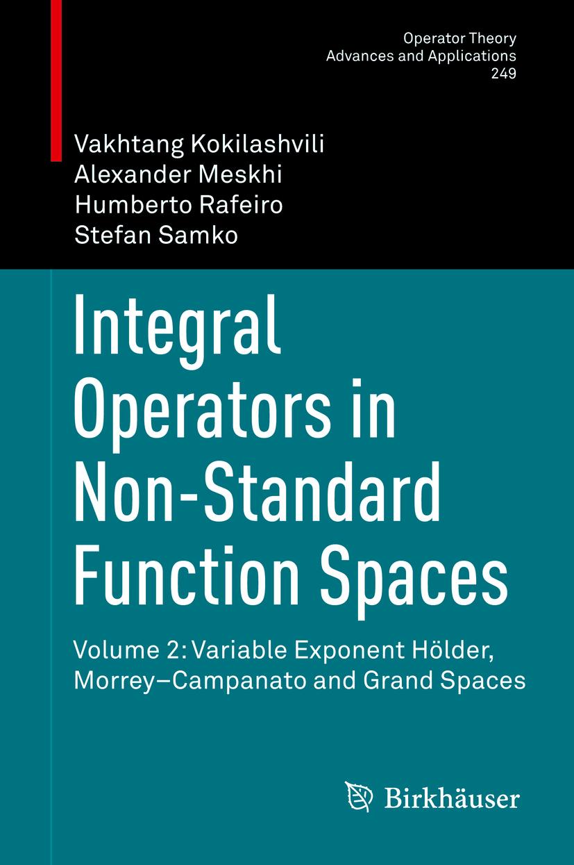 Kokilashvili, Vakhtang - Integral Operators in Non-Standard Function Spaces, ebook