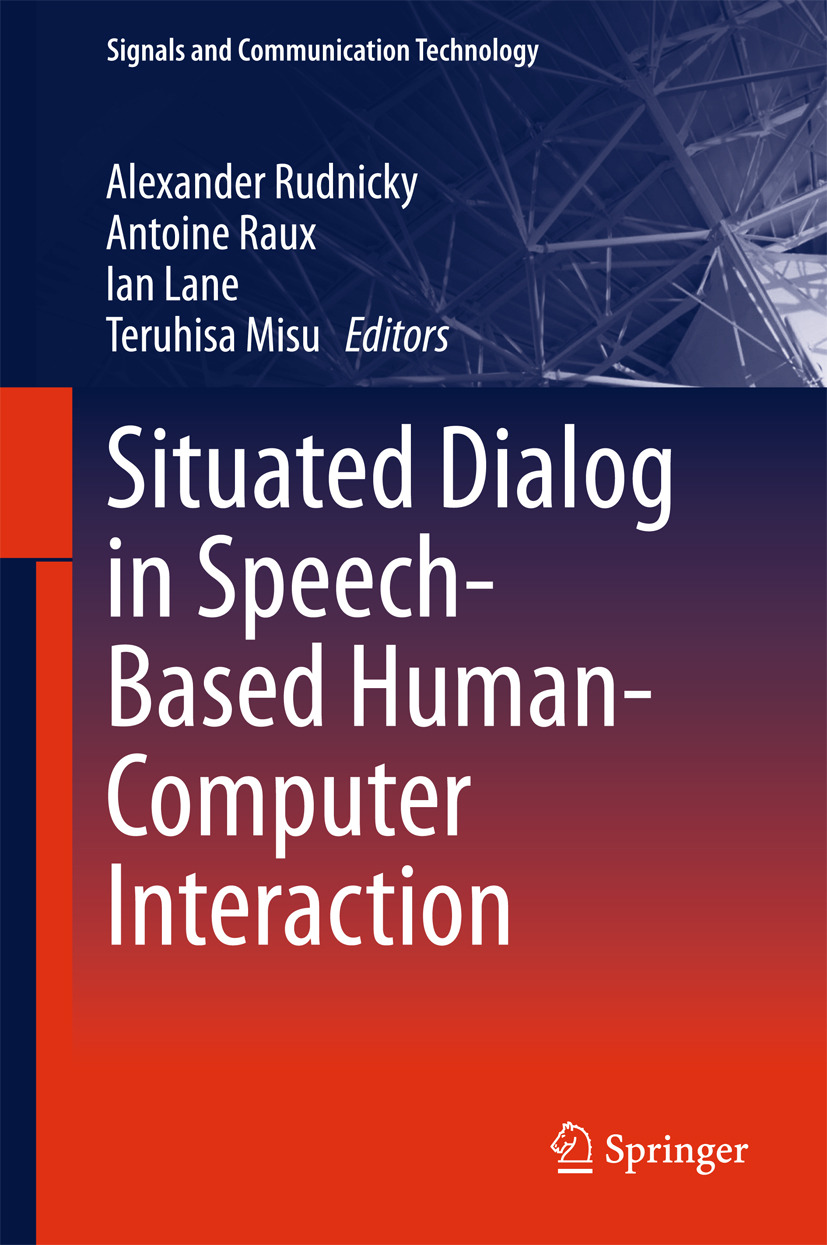 Lane, Ian - Situated Dialog in Speech-Based Human-Computer Interaction, ebook