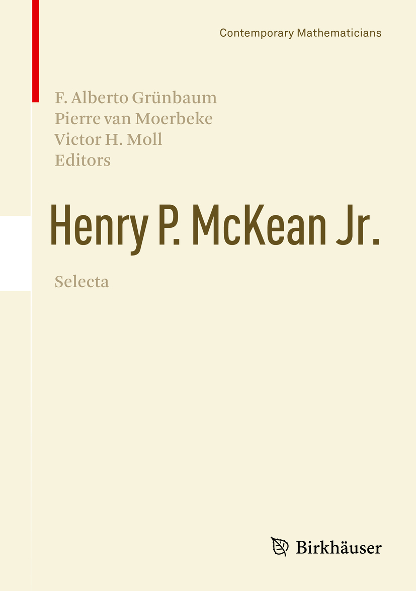 Grünbaum, F. Alberto - Henry P. McKean Jr. Selecta, ebook