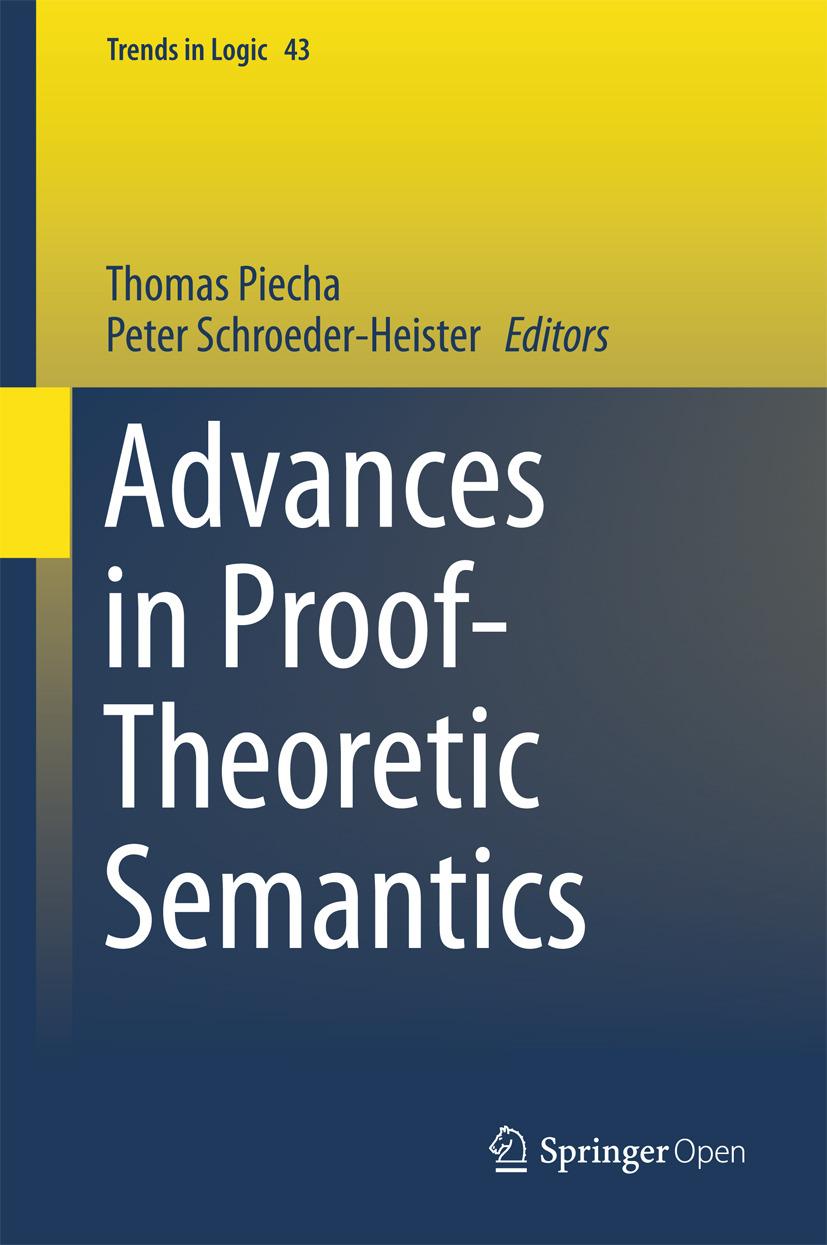 Piecha, Thomas - Advances in Proof-Theoretic Semantics, ebook