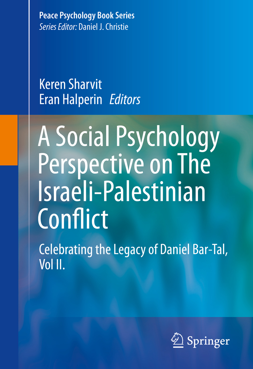 Halperin, Eran - A Social Psychology Perspective on The Israeli-Palestinian Conflict, ebook